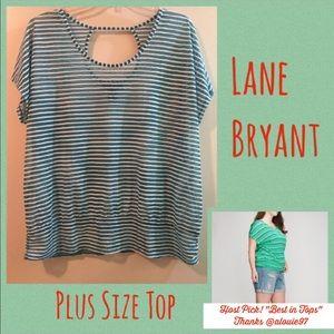Lane Bryant Tops - HP✨Lane Bryant Striped Top✨Plus size