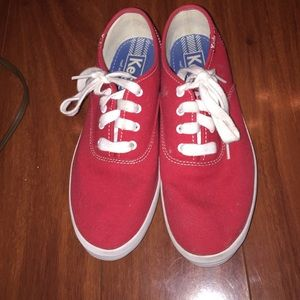 Keds Shoes | Red Keds In A Big Kids