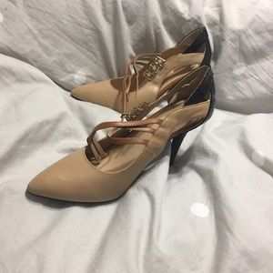 Mark by Avon Shoes - Nude/black heels