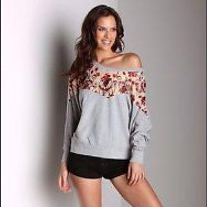 Free People Lace Detail Sweatshirt