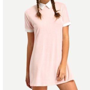 Makemechic Dresses & Skirts - Pink Contrasting Collar Dress