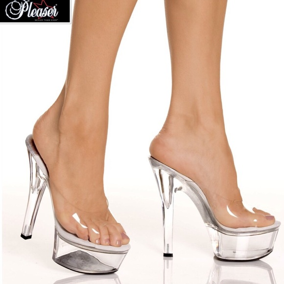71% off Pleaser Shoes - LIKE NEW! PLEASER KISS-201 Clear Platform ...