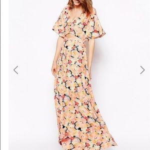 ASOS floral cutout maxi dress