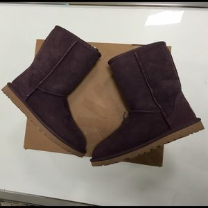 UGG Shoes - Ugg purple short classic boots size 5 new