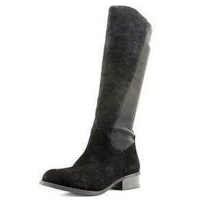 Nine West Partay black/black suede Boots NWT 8.5