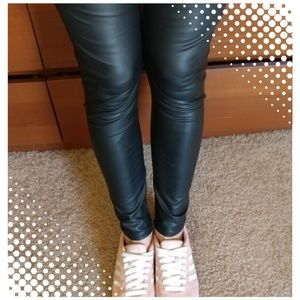 Pants - Faux Leather Leggings