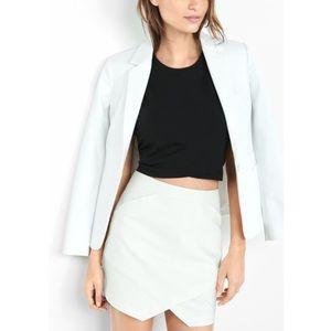 Express Dresses & Skirts - NEW Express Asymmetrical High Waisted Ivory Skirt