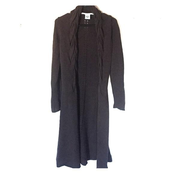 79% off Max Studio Sweaters - Max Studio Long Dark Brown Sweater ...