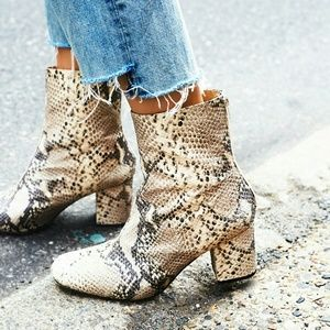 ISO Free People Cecile Snake Print Boot
