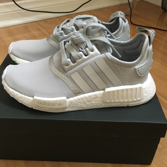 cb3518597 Adidas Silver and gray nmd women s