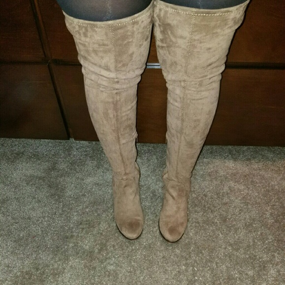 23878354108 Aldo Shoes - Elinna (Taupe)Thigh High Boots
