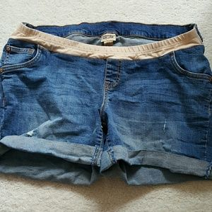 Indigo Blue Pants - Indigo Blue Maternity Shorts