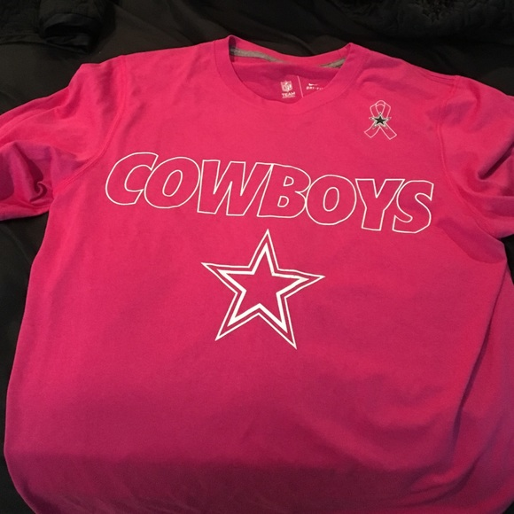 Nike dri-fit Dallas Cowboys breast cancer shirt. M 5846d5d96a5830b2f6013b45 5905be5aa