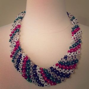 large hand made statement necklace