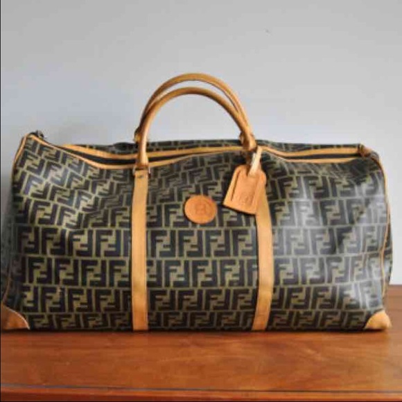 Fendi Handbags - VINTAGE FENDI ZUCCA DUFFLE TRAVEL BAG 28b458cfab315
