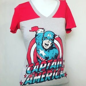 Marvel Tops - Marvel Captain America Tee