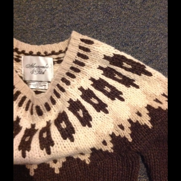 Abercrombie & Fitch - Abercrombie $ Fitch Wool Blend Fair Isle ...