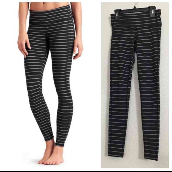 13d63ee4775e6 lululemon athletica Pants | Athleta Grey Black Striped Leggings ...
