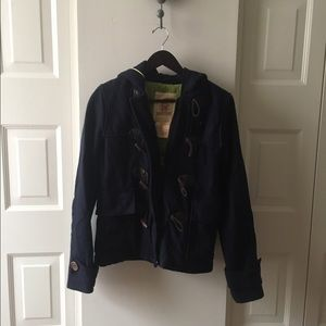 Hollister Navy Blue Coat!