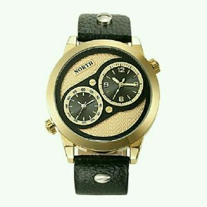 NEW HIGH QUALITY MEN LUXURY  GOLD BLACK