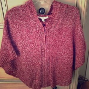 Fever London Sweaters - Cute knit rose pink poncho