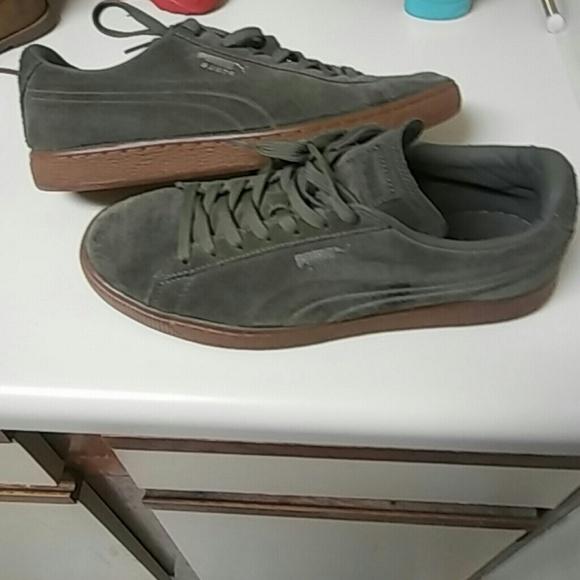 3579805fa98 Puma Shoes | Suede Olive Green 8 In Men 10 In Women | Poshmark