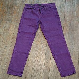 J. Crew Toothpick Skinny Ankle. Purple