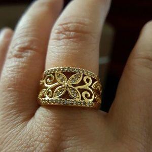 Maya Jewelry - 18k gold filled cz ring band sz 7  love wedding
