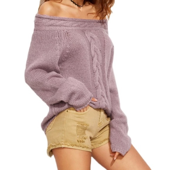 60% off Sweaters - Aubrina Off the Shoulder oversized Slouchy ...