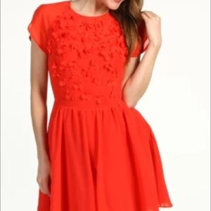 Ted baker red dress size 3 us 8/ uk12.