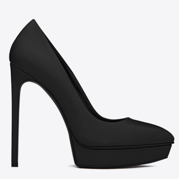 Discount Cheapest Price For Sale Cheap Price From China Saint Laurent Leather Escarpins Cheap Sale For Sale kPOUE6xfT