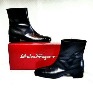 Salvatore Ferragamo Shoes - Salvatore Ferragamo Black Gancini Ankle Boots