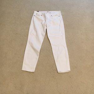 JCrew Skinny crop jeans in white
