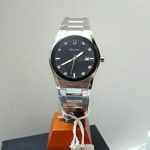 Bulova  Other - NWT $500 Bulova Diamond black dial watch