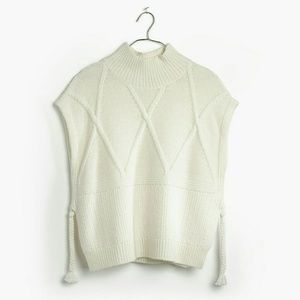 Madewell  Cable Knit Side-Tie Sweater Vest Size S