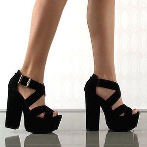 Luichiny Shoes - black platform heels