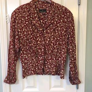 Carole Little Tops - Vintage Carol Little floral blouse