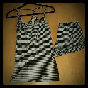 Victoria's Secret Other - VICTORIA'S SECRET navy blue and white striped set