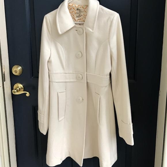 Tulle - Tulle cream single breasted pea coat from 🌹lara ...