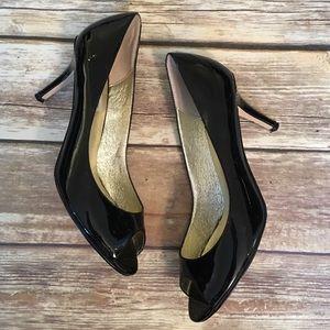 Steve Madden Patent Leather Peep Toe Heels
