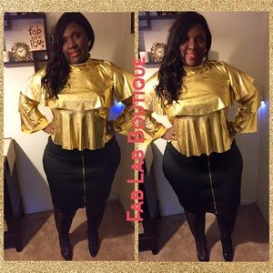 Gold Layered Top (Plus Size)