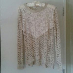 Beautiful Knit & Lace Sweater