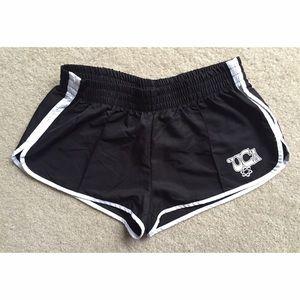 NWT UCA Black/White Nylon Racer Shorts
