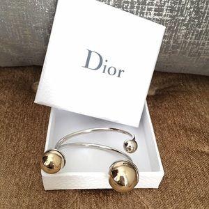 Christian Dior Mise En Dior gold silver bracelet
