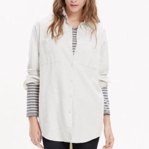Madewell Cream Flannel Sunday Shirt