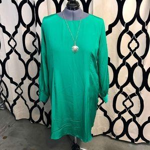 ASOS Curve Silky Emerald Dress