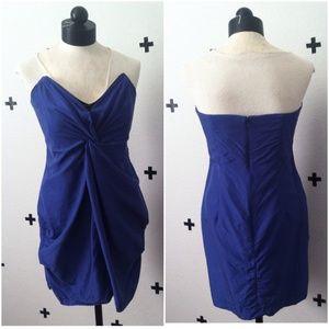 Reiss Courtney Bandeau Silk Dress