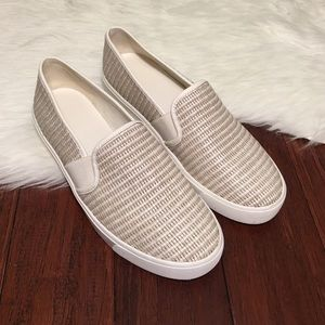 Vince Shoes - | Vince | Blair Woven Leather Slip On Sneaker