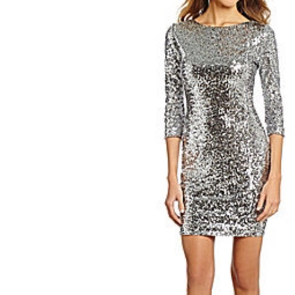 19dfb0c7a3 Gorgeous Silver Sequin Gianna Bini Mini Dress Med