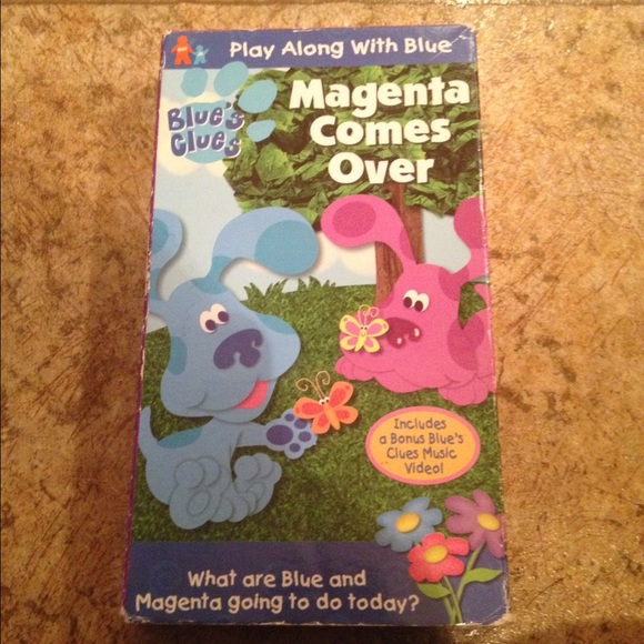 Other Blues Clues Magenta Comes Over Vhs Poshmark